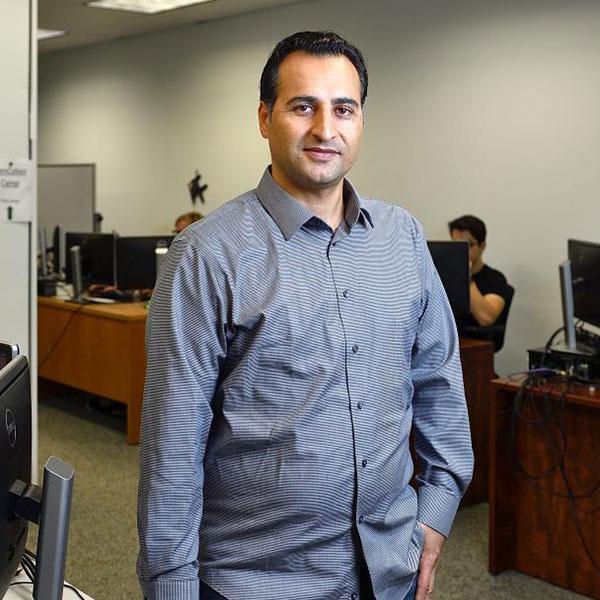 UNT assistant professor of computer science and engineering Hassan Takabi