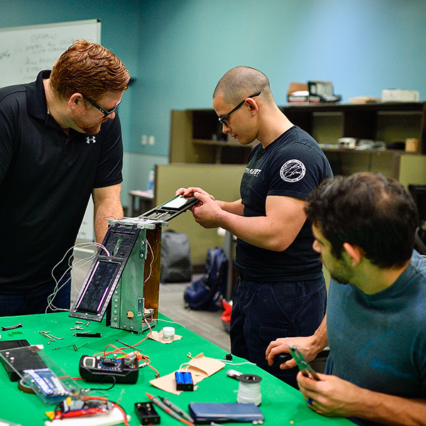 A group of UNT Engineering students are building a CubeSat.