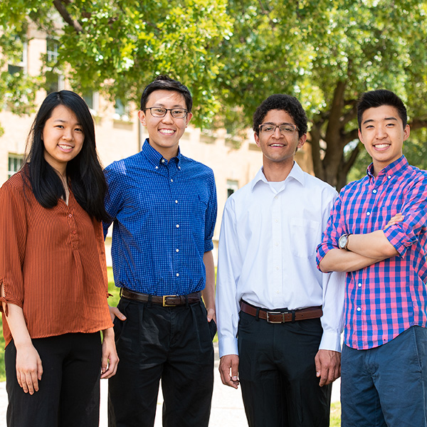 AMS and Goldwater receipents and Ellen Qiangh, Jonathan Lu, Rishi Shridharan and David Yue